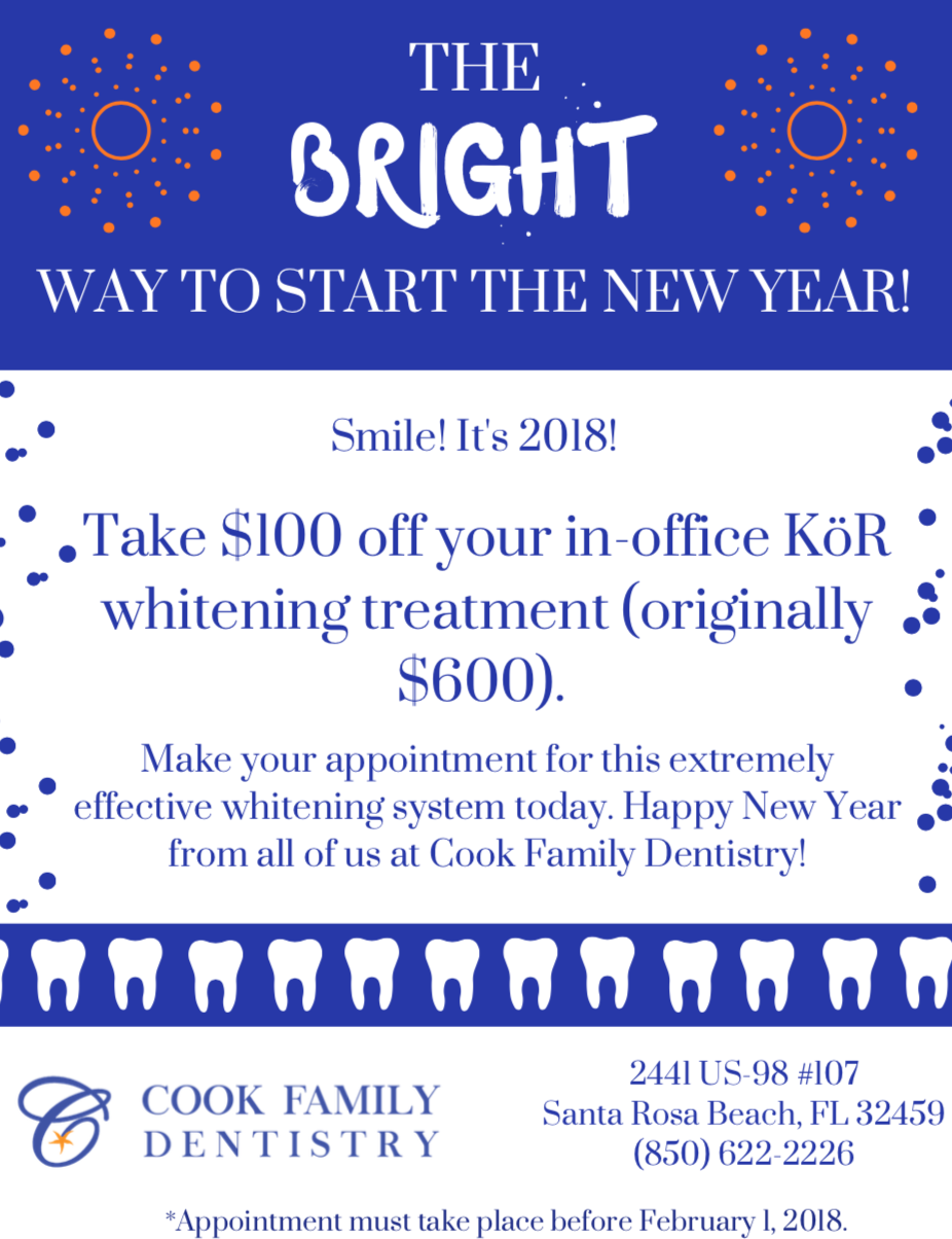 Start the New Year off BRIGHT! - Cook Family Dentistry